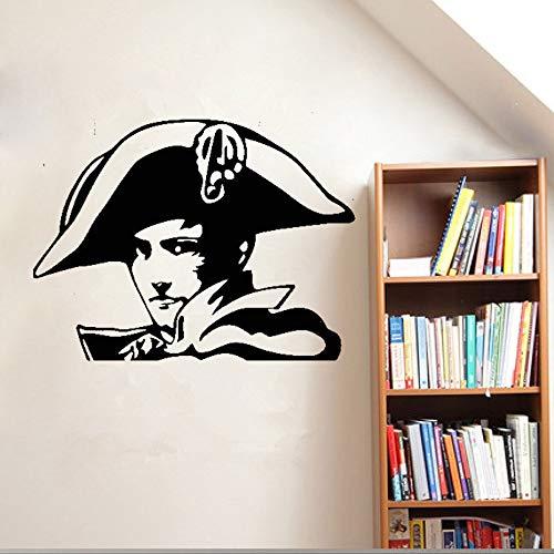 Französisch Napoleon Wall Decal Aufkleber Musketier Armee Krieger Hut Soldat Vinyl 3D Poster abnehmbare Wandaufkleber neues Design 56x74 cm