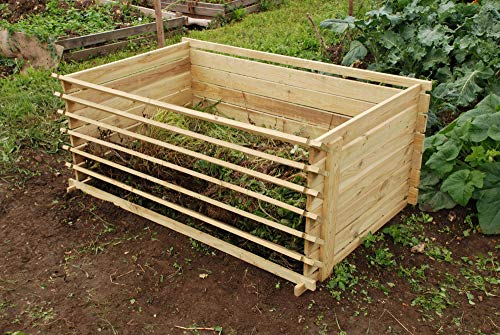 Lacewing Extra Large 897 Litres Garden Outdoor Wooden Compost Bin Composter...