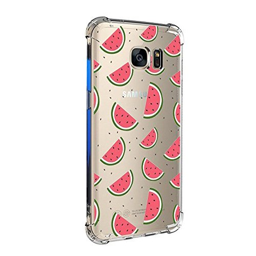Pacyer Funda compatible Samsung Galaxy S7/S7 Edge, Cristal Claro Absorción TPU Parte Trasera Dura Anti-Estático Anti-Rasguño Anti-Golpes Refuerzo de Grosor Evitar Caídas Transparente (S7 edge, 4)