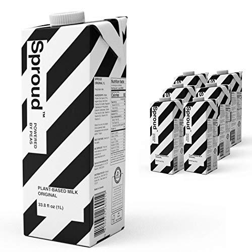 Sproud 100% Dairy-Free Milk - Original Flavor - 1 Liter (Pack of 6) - Plant-Based, Powered by Peas - Shelf Stable – Non-GMO - Allergen Free Milk Alternative
