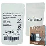 Naturellia Acido Hialuronico Polvo 20 Gramos 1500 k-Dalton Altamente Concentrado - Alto Peso Molecular Para el Efecto de Superficie DIY