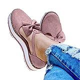 Aniywn Espadrille Platform Sandals, Women's Ankle Straps Wedges Sandals Casual Summer Closed Toe Sandals Pink