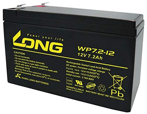 ロング (KUNG LONG BATTERIES) 産業用鉛蓄電池 (12V-7.2Ah) NP7-12/PE12V7.2/互換 (標準系) WP7.2-12