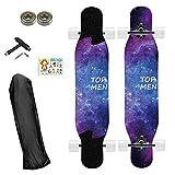 ASMCY Profi-Cruiser Longboard Skateboard Streetsurfing,...
