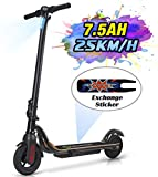 MEGAWHEELS S10 Electric Scooter, 22KM Long Range Battery, Up to 15.5 MPH, 8' Tires, Ultra-Lightweight, Portable and Folding Commuter Electric Scooter for Adults