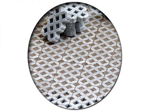 modellbahn-exklusiv Juweela 24170 - Rasengittersteine grau, 215 Stück, Spur 0 (Null), 1:45