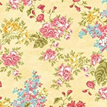 Clearance Sale~Forever Love~Flora Yellow ~Cotton Fabric by Benartex