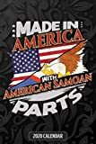 Made In America With American Samoan Parts: American Samoan 2020 Calender Gift For American Samoan With there Heritage And Roots From American Samoa