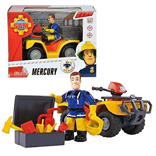 Sam El Bombero - Fireman Sam - Vehículo SUV Quad Mercury con Carácter Sam