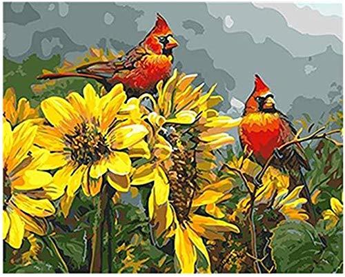 KELDOG® Puzzels 1000 stuk voor volwassenen Kinderen Houten puzzel, Decompressie Groot puzzelspeelgoed, Logische geheugenuitdaging - Kalkoenvogel op zonnebloem