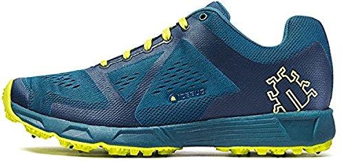 Icebug Men's DTS3 BUGrip Traction Studded Running Shoe, Dk Teal/Dk Lime, 9
