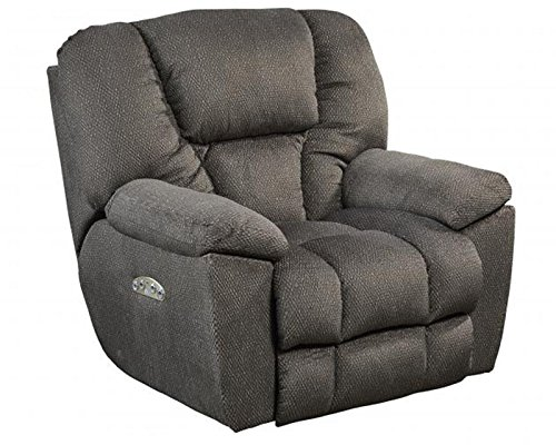 Catnapper Owens 764761-7 Power Full Lay Out Recliner Chair with Power Headrest and Lumbar Support - Seal