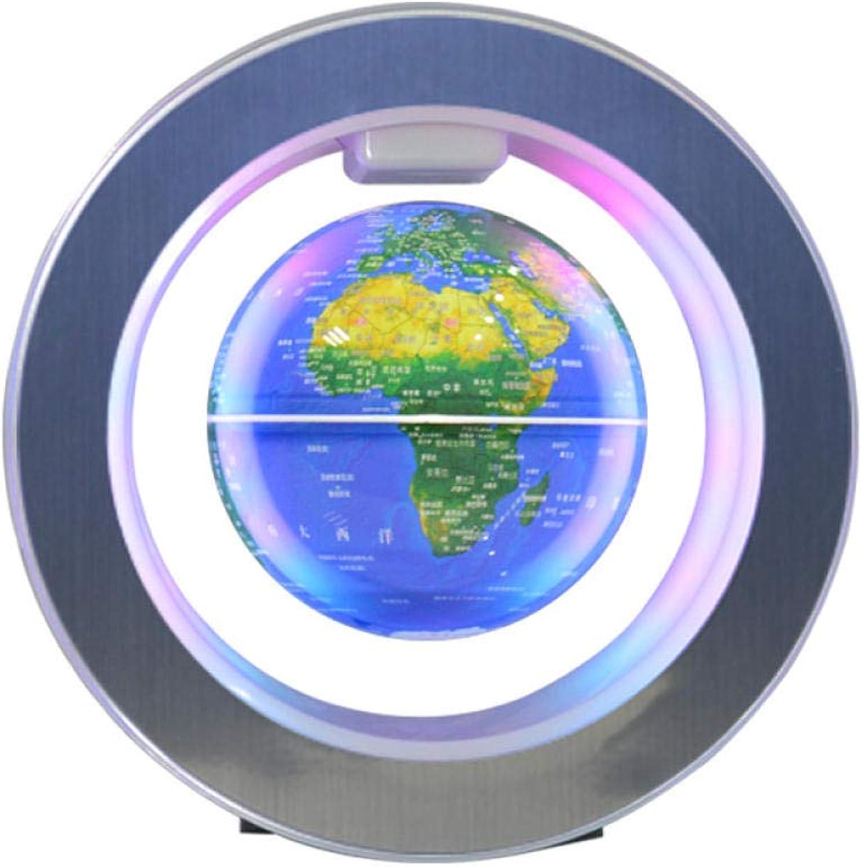 Jopjdpdsf Schwebender Globus,4 Zoll Leuchtende Magnetische Suspension Globus High-End-Geschenk Kreatives Geschenk Einzigartige Dekoration Ornament