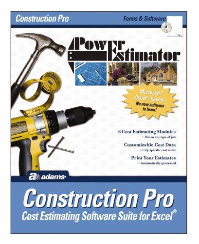 Adams PowerEstimator Construction Pro Estimating Software, 9 x 11.5 Inches (ALB503SW)
