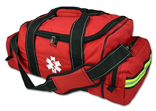 Lightning X EMT Medic Large First Responder EMS Trauma Jump Bag w/Dividers (Red)