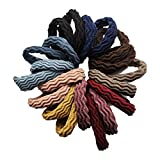 Hair Ties with Seamless High Elastic Thickening in Ponytail Holders (Multiple Colors with 20 Pcs Packing)