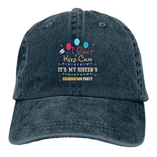 No Puedo Mantener la Calma, es la Fiesta de graduación de mi Hermana Gorras de béisbol Ajustables para Hombres Mujeres Sombrero Gorra de Viaje Sombrero de Motor de Carreras
