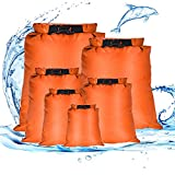 Dereine Bolsa Estanca, Bolsas Secas, Bolsa Estanca Impermeable, Ultra Ligero, Bolsa Impermeable para Kayak/Acampar/Senderismo/Hacer Rafting/Viaje/Playa(1.5L / 2.5L / 3L/3.5L/5L/8L)…