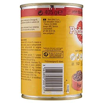 Pedigree Paté avec Bœuf, canette 405 g – Nourriture pour Chien – 24 canettes