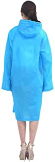 LGALQQ Adult Raincoat, Fashion Raincoat, Vented Reflective Strip Non-disposable Raincoat, Men's And Women's Long Hooded White, Blue, Pink Clothing and accessories (Color : Light blue)