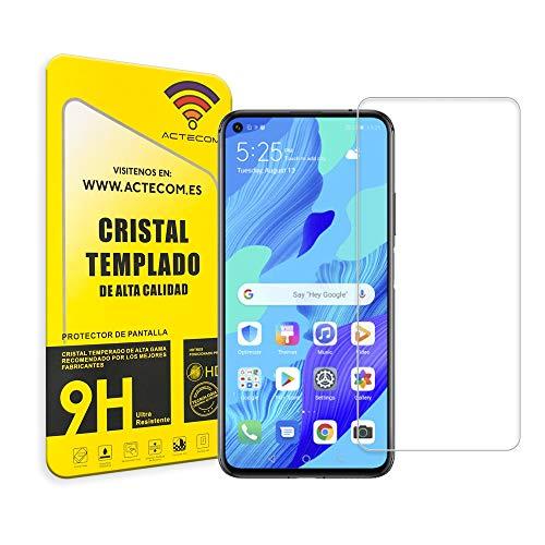 ACTECOM® PROTECTOR PANTALLA COMPATIBLE CON HUAWEI NOVA 5T CRISTAL VIDRIO TEMPLADO