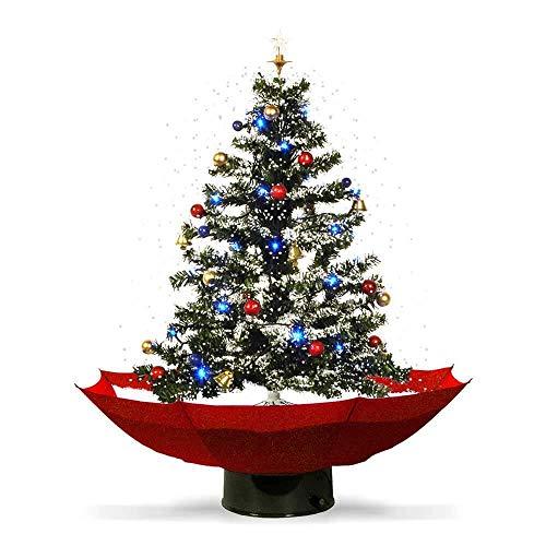 Monsterzeug Schneiender LED Weihnachtsbaum, künstlicher Deko Christbaum der schneit mit Weihnachtsliedern und Schneefall, Weihnachtsdeko Tannenbaum mit Schnee und Beleuchtung zu Weihnachten
