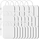 24PCS TENS Unit Replacement Pads 2x2 Premium Self Adhesive Electrode Pads, TENKER 3rd Gen Latex-Free Reusable Electrotherapy Patches for Electrical Muscle Stimulator Machine