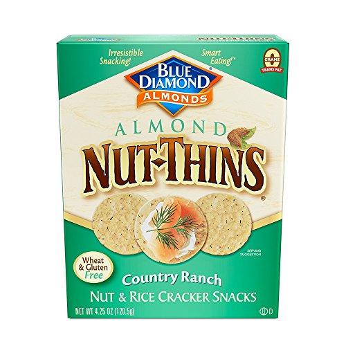 Blue Diamond Almond Nut Thins Cracker Crisps, Country Ranch, 4.25 Ounce