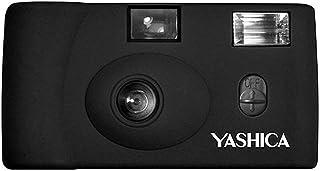 Yashica MF 1 schwarz Snapshot 35 mm Kleinbild Kamera Set (mit eingelegtem Film + Batterie)