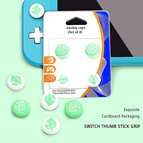FANMU Animal Cross Silicone Joystick Thumb Grip Cap for Nintendo Switch Lite Soft Silicone Case for Joy-Con Controller (4 Pcs)