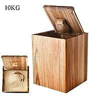Set di conservazione e organizzazione degli alimenti - Questo contenitore per alimenti in legno è adatto per caricare riso, farina, mais, cereali, soia, grano, prodotti secchi, ecc. Organizzazione della cucina - Le dimensioni del contenitore per fari...