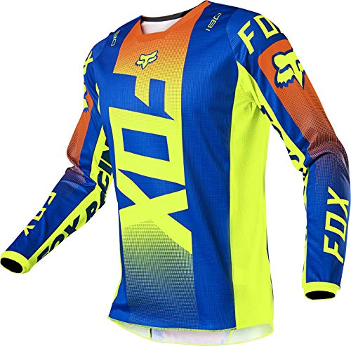 Fox Racing YTH 180 OKTIV Jersey, Blue, Large
