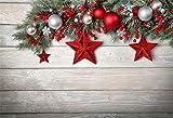 Fondo de Madera de Navidad Bola de Regalo Corona de Pino Tab