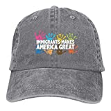 SHANMJ Immigrants Make America Great Patriotic Adulto Sport Regolabile Cappello da Baseball,...