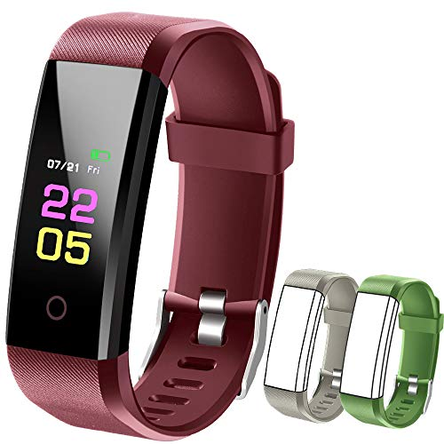 Fitness Tracker Hr, kids Activity Tracker Watch Android With Heart Rate Monitor, Waterproof Fit tracker Watch With Sleep Monitor Smart Bracelet with Calorie Counter Pedometer Watch for Women men