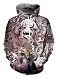 Photo de QYIFIRST Pull à Capuche Sweatshirt Hero Académie Cross My Body Himiko Toga Ahegao Impression 3D Sweat à Capuche Anime Cosplay Costume Unisexe Violet M (Chest 107cm)