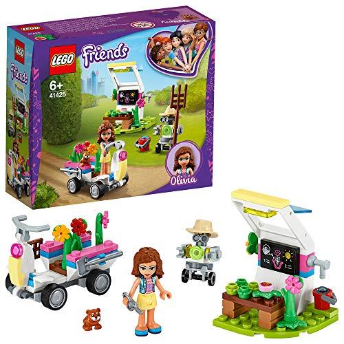 LEGO 41425 Friends HuertodeFloresdeOlivia, Juguete de Construcción para Niños y Niñas a Partir de 6 años con Mini Muñeca