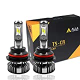 Alla Lighting 10000lm HB1 9004 LED Bulbs P29t Base Dual High Low Beam Headlights(off-roading), 6000K Xenon White Extremely Super Bright TS-CR Forward Lighting Replacement