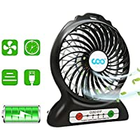 Coo Portable USB Fan with Flashlight