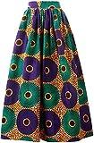 Women African Traditional Costume Ankara Print Skirt Dashiki Long Skirts (XX-Large,D)