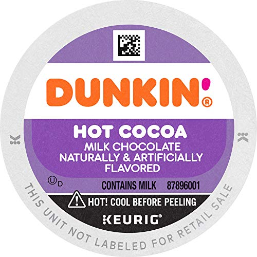 Dunkin' Milk Chocolate Hot Cocoa, 60 K Cups for Keurig Coffee Makers...