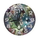 Jack Skellington - Reloj de pared silencioso, sin riel, con pila redonda, fácil de leer, casa, oficina, sala de clase