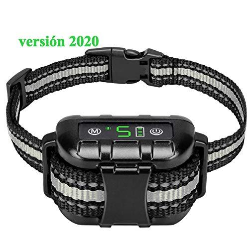 Meloive Collar Ladrido de Perro Automático, Collar de Adiestramiento de Perros Versión 2020, Detención de Ladridos por Vibración y Sonidopara Todos los Perros - Impermeable IPX7 y Recargable.
