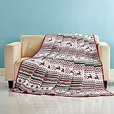 Qucover Tagesdecke Weihnachten Gesteppt Bettüberwurf