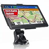 OHREX Navegador GPS para automóvil con voz de PDI, estacionamiento de guía y asistente de carril