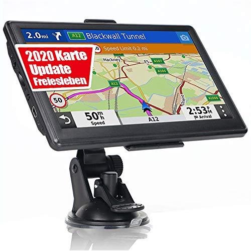 Navigationsgerät für Auto LKW, OHREX 7 Zoll Navi, 2020 EU Karten Navigation, Lebenslang Kostenloses Karten-Updates für Europa/UK/Welt, Blitzerwarnung, Sprachführung, Fahrspurassistent