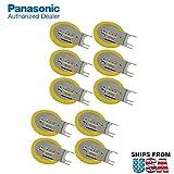 10x Panasonic CR-2032/GVFN 3V Lithium Coin Battery 3 PC Pins Tab for PC CMOS CR2032-TPX. IBM CMOS Battery Part Numbers: 12J1695, 02K6572, 12J1671, CMOS Battery CR2032/S7F Gateway Solo 5300