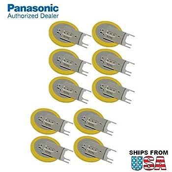 10x Panasonic CR-2032/GVFN 3V Lithium Coin Battery 3 PC Pins Tab for PC CMOS CR2032-TPX IBM CMOS Battery Part Numbers  12J1695 02K6572 12J1671 CMOS Battery CR2032/S7F Gateway Solo 5300