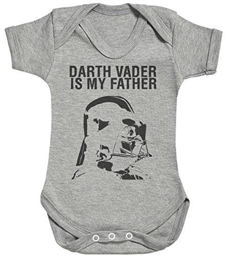 Baby Buddha Darth Vader is My Father Body bébé - Gilet bébé - Body bébé Ensemble-Cadeau - Naissance Gris