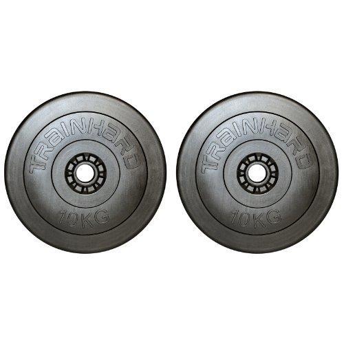 TrainHard Discos de pesas de plástico/cemento...
